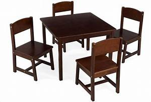 Table Et Chaise Pour Bébé : table en bois fonc pour enfant kidkraft et 4 chaises ~ Farleysfitness.com Idées de Décoration