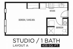 Drawn kitchen studio apartment pencil and in color drawn for One room apartment design plan