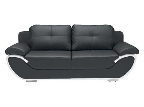 canapé noir et blanc canapé fixe convertible 3 places pacora coloris noir et