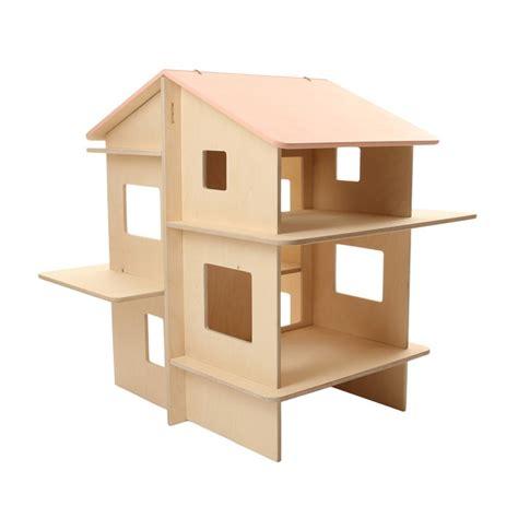 maison de poupee en bois maison de poup 233 e en bois rayray momoll pour chambre enfant les enfants du design
