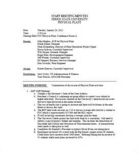 Staff Meeting Minutes Sample