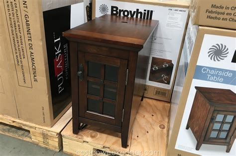 broyhill chairside table costco weekender
