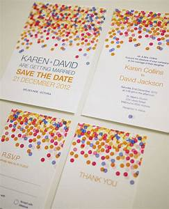 Colorful Confetti - Wedding Invitation Set (PRINTABLE ...