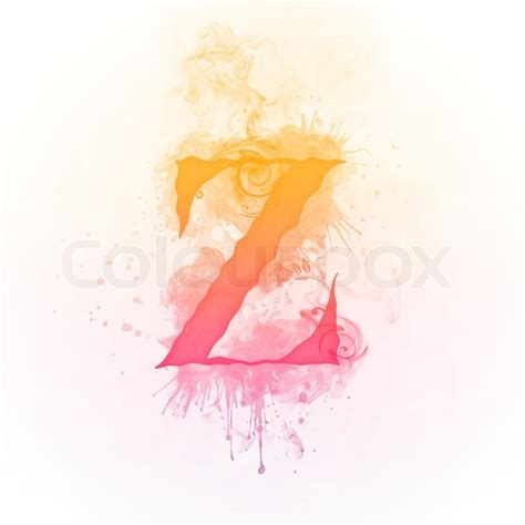 Z Background Swirl Letter Z Isolated On Black Background Computer