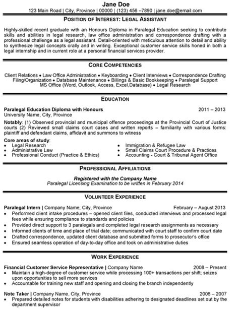 assistant resume sle template