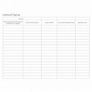 Examples Of Attendance Sheets Lockout Tag Log