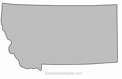 Montana Outline State Map Printable Shape Pattern