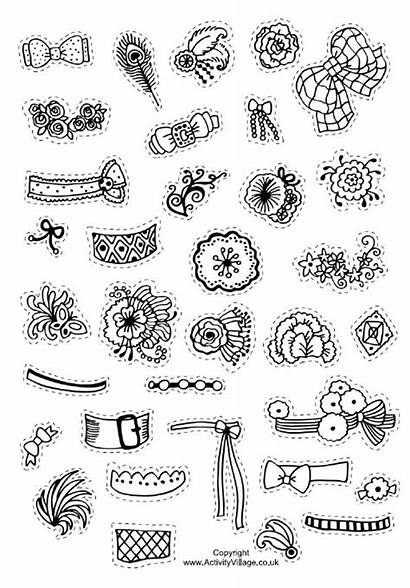 Decorate Decorations Hats Royal Pages Colouring Doodles