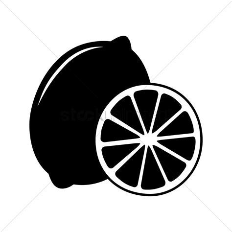 lime slice silhouette silhouette of lemon vector image 1447186 stockunlimited