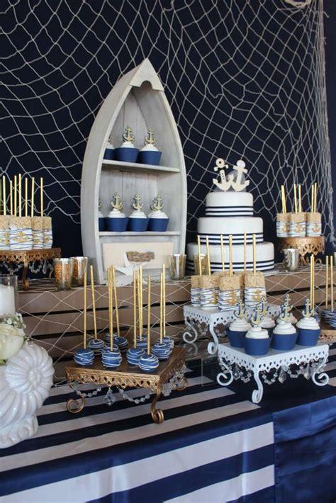 Nautical Wedding Party Ideas  Bride Groom And Cake