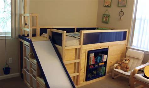 Ikea Hack Kura Bed by Ikea Hack Kura Bed With Slide And Secret Room