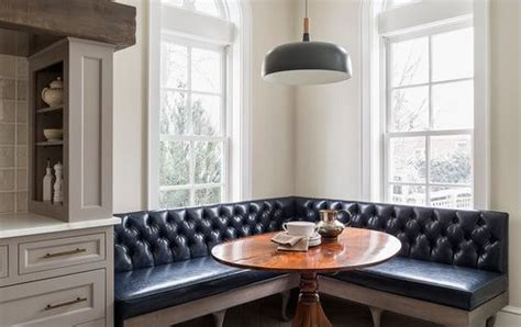 banquette  tufted leather    table spaces