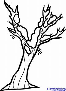 winter tree coloring page | Murderthestout