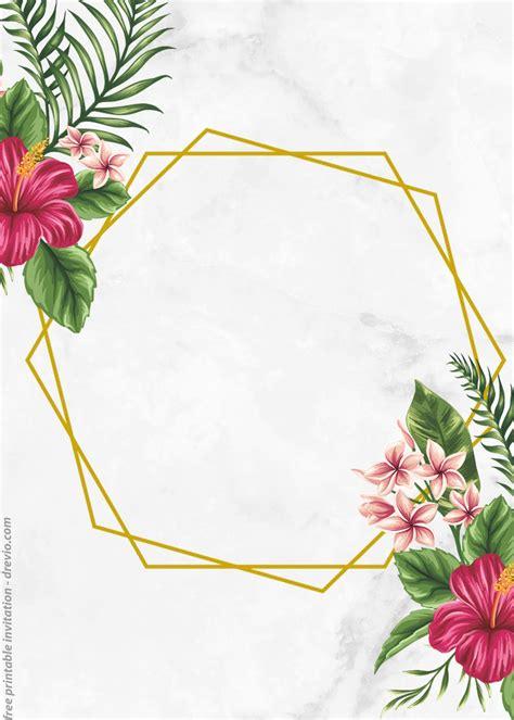 printable vintage flower framed watercolor