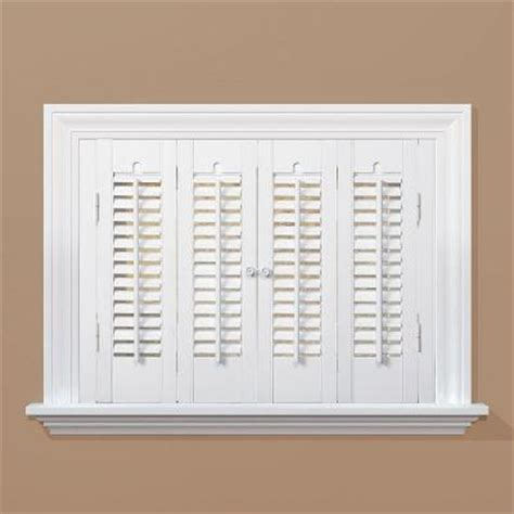 wooden shutters interior home depot homebasics traditional real wood snow interior shutter price varies by size qstc2736 the