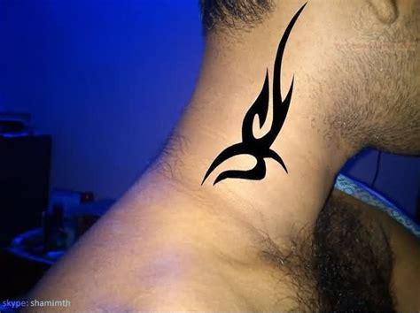 Tribal For Neck Tattoo Design