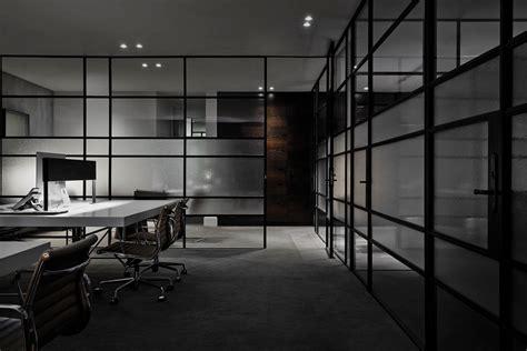 Black Parisian Interior Design Home Office by B E Architecture Melbourne