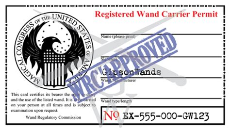 registered wand carrier permit  storenvy