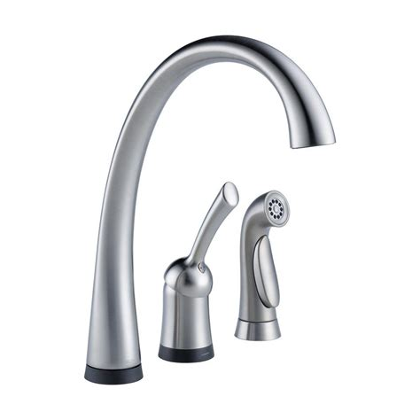 handle kitchen faucet delta faucet 4380t ar dst pilar waterfall single handle