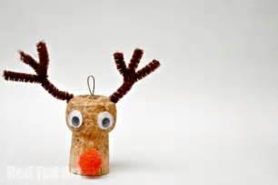 reindeer ornaments cork crafts