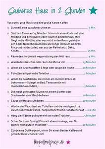 Wohnung Putzen Checkliste : 25 einzigartige putzplan ideen auf pinterest ~ Lizthompson.info Haus und Dekorationen