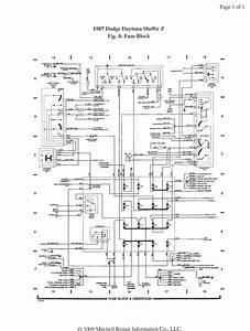 Free Auto Wiring Diagram  1987 Dodge Daytona Shelby Z Fuse Block