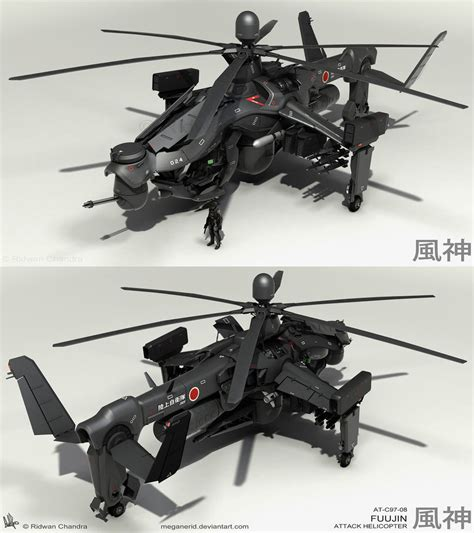 Fuujin Attack Helicopter Renders 3 By Meganerid On Deviantart
