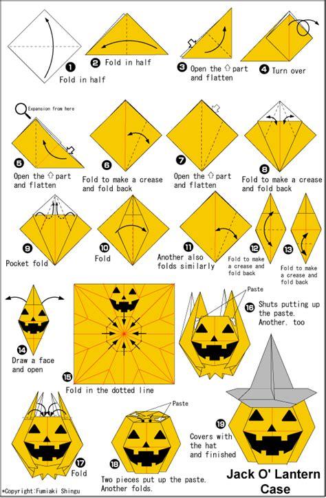 Origami Jack O' Lantern Case Instructions  Easy Origami