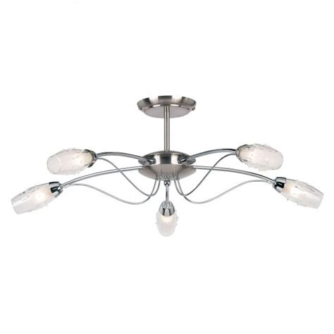 endon 9009 5sc satin chrome ceiling light endon 5 light