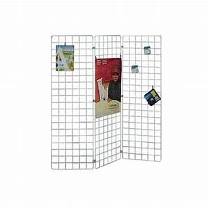 Grille Murale Deco : grille d 39 exposition conomique blanche fixation murale paravent ou sur pied ~ Teatrodelosmanantiales.com Idées de Décoration