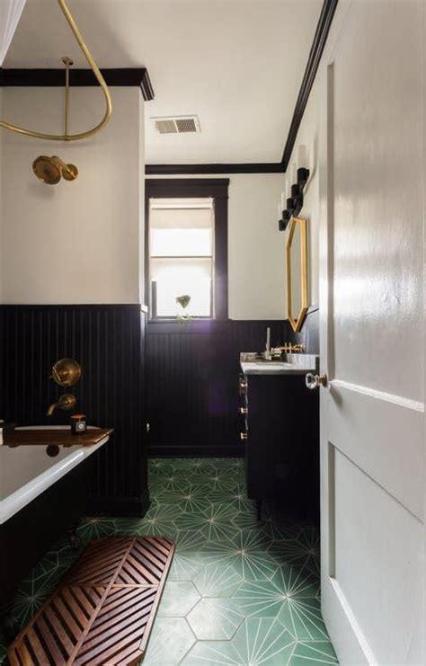 spectacular bathrooms  encaustic cement tile boho