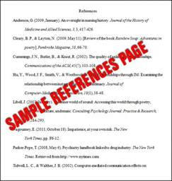 essay basics format a references page in apa style