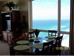 3 Bedroom Condos In Panama City Beach Fl of Fantastic Ocean Views From Side Window By Dining Area Splash 1901E