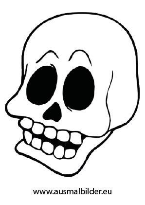 ausmalbilder totenkopf ausdrucken