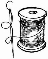 Thread Needle Drawing Spool Analuz Sketch Zaterdag Coloring Klosjes Added Template Pngio Februari sketch template