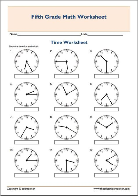 Math Printable Worksheets 5th Grade Worksheets For All  Download And Share Worksheets  Free On