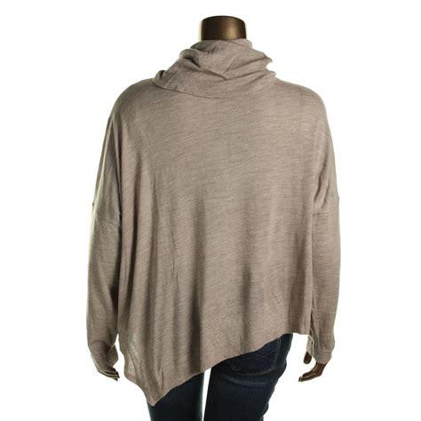merino wool sweater womens eileen fisher 4929 womens merino wool turtleneck poncho