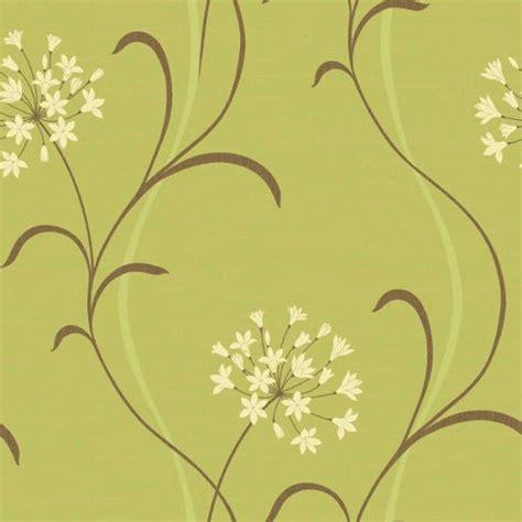 Buy Arthouse Mia Motif Wallpaper Green  Cream Brown
