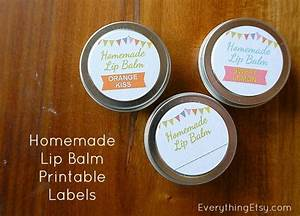 Homemade lip balm recipe printable labels diy gift for Diy lip balm labels
