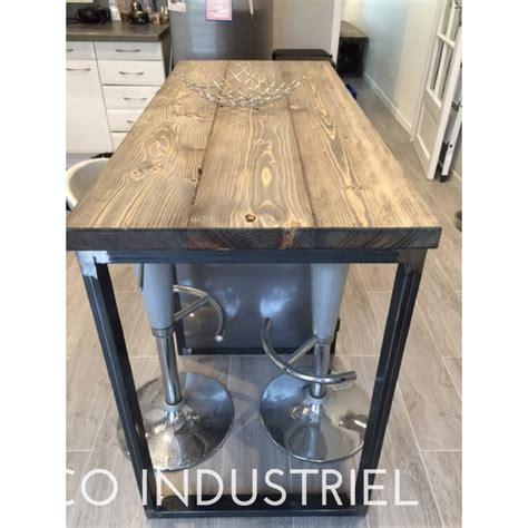 meuble cuisine ilot meuble industriel îlot centrale de cuisine m déco industriel