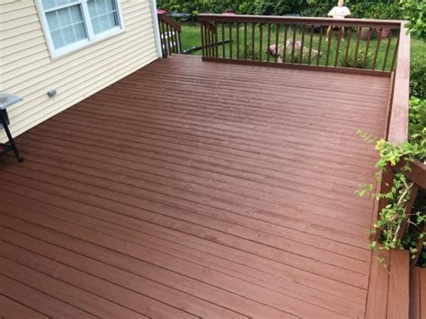 behr deck cleaner ingredients she picked up a brush and did this to their deck when