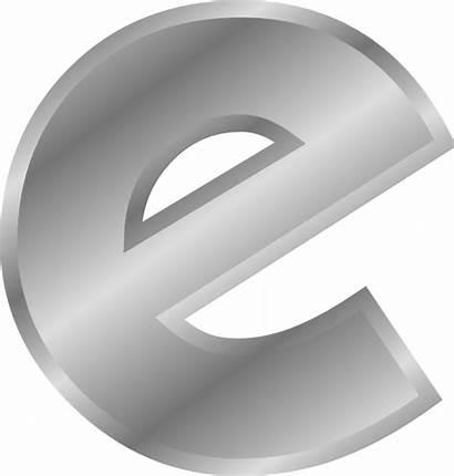 Clipart Single Alphabet Letters Clip Silver Transparent