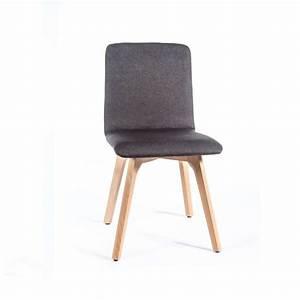 chaise de salle a manger moderne en tissu et bois plaza With salle À manger contemporaineavec chaises blanches pied bois