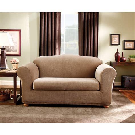 sure fit loveseat slipcovers sure fit stretch stripe sofa slipcover ebay