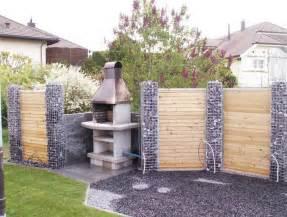gartengestaltung ideen sichtschutz kreative ideen mit garten sichtschutz stein mit einer kombination aus holz für ihren vorgarten