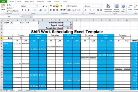 shift schedule template shatterlioninfo