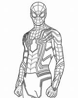 Spider Coloring Iron Suit Scarlet Homecoming Superhero Draw Template Lego Amazing Widow Popular Sketch sketch template