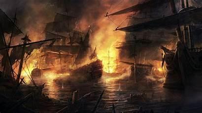 Pirate Ship Backgrounds Background Battle Desktop Ships