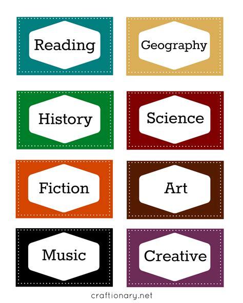 printable label craftionary