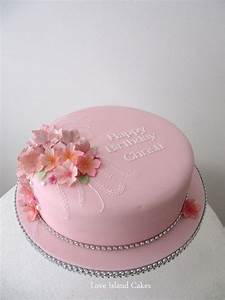 PINK AND SPARKLY BIRTHDAY CAKE Single tier birthday cake ...
